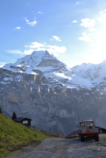 Hiking above Murren, Switzerland